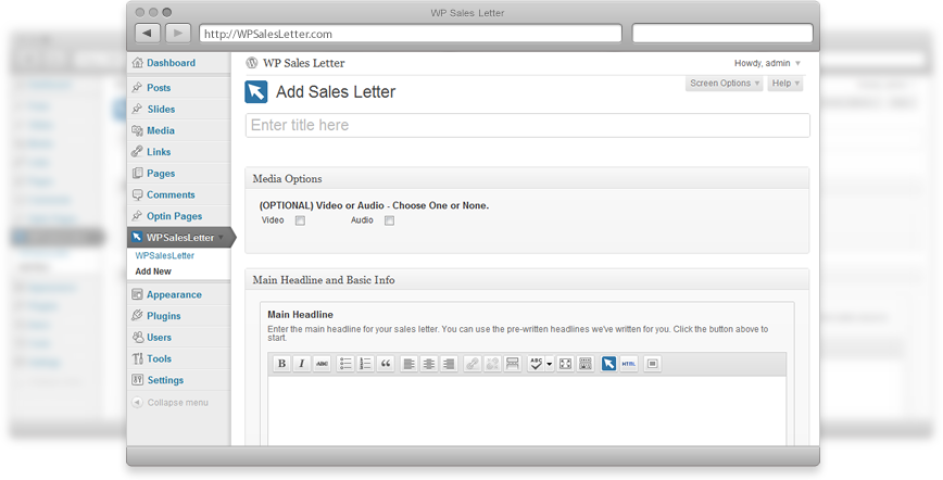 WordPress Sales Letter